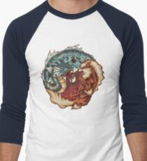 The Tiger and the Dragon Men's Baseball ¾ T-Shirt