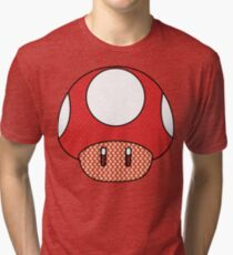 nintendo Mushroom Tri-blend T-Shirt