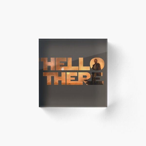 Hello There - Space Jesus  Acrylic Block