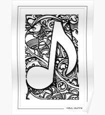 quaver 2 musical note Poster