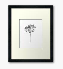 Flower Lithograph Print Framed Print