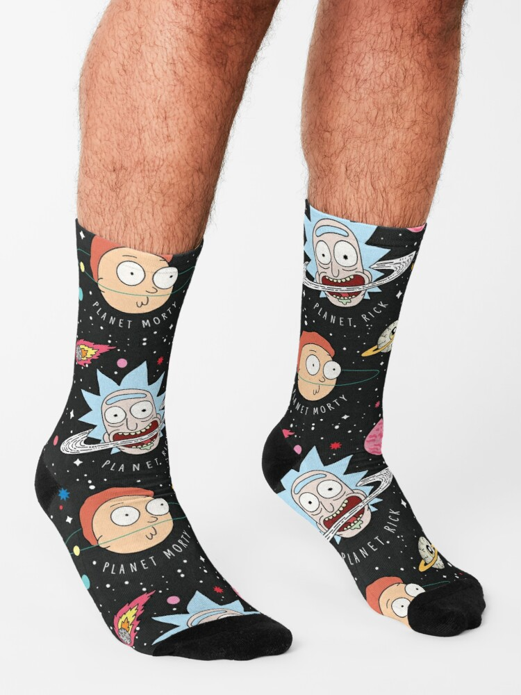 Alternate view of Rick and Morty Planets Socks