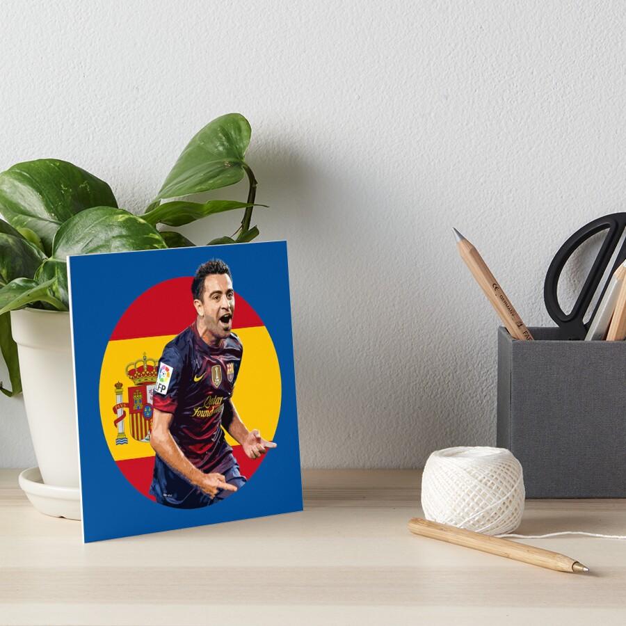 Xavi - Spain and Barcelona Legend Art Board Print
