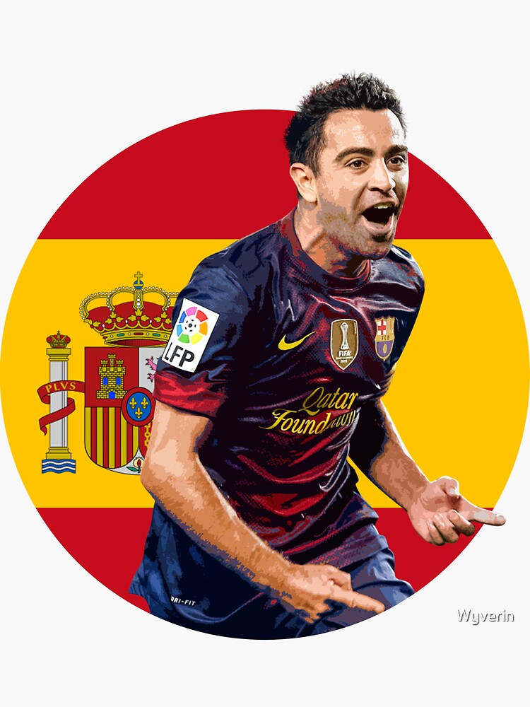Xavi - Spain and Barcelona Legend by Wyverin