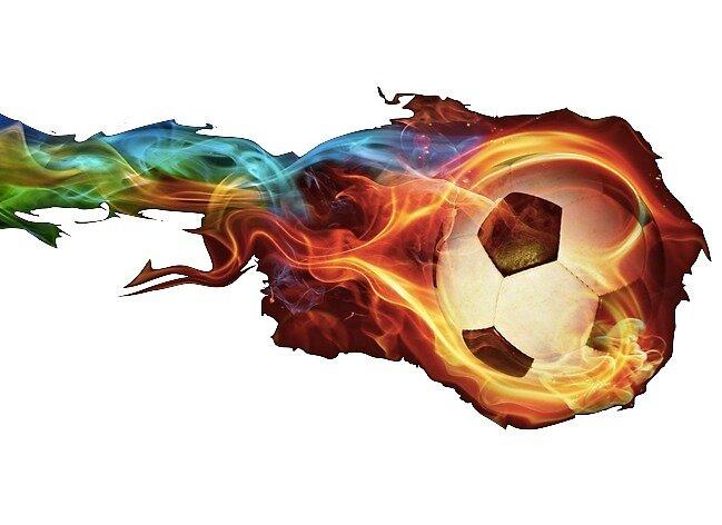 flaming soccerball by luluandizzie12