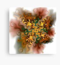 Whimsical autumn ornament Canvas Print