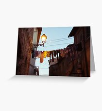 clothesline Greeting Card