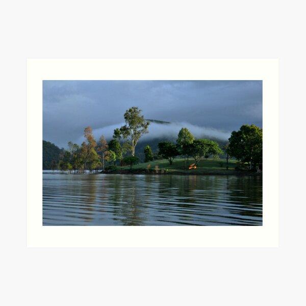 Mist over Lake Moogerah  Art Print