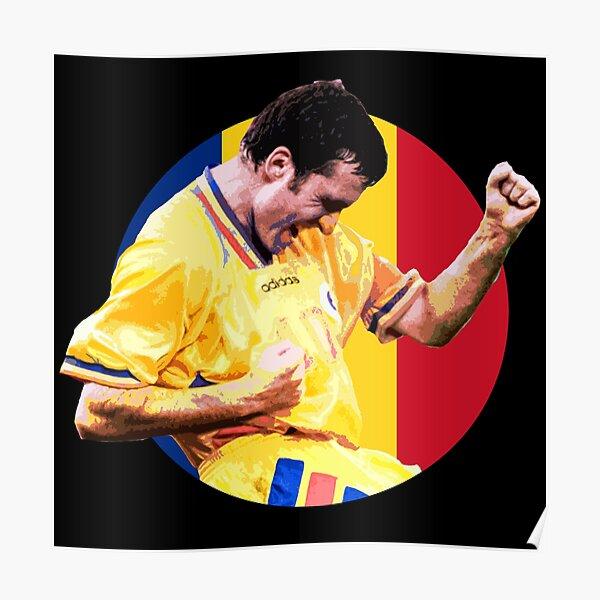 Gheorghe Hagi - Romanian Football Legend Poster