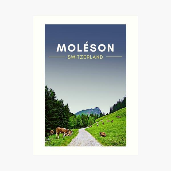 Moleson Switzerland Digital Travel Art - no border Art Print