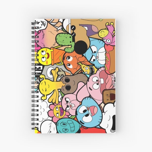 The amazing world of Gumball doodle Spiral Notebook