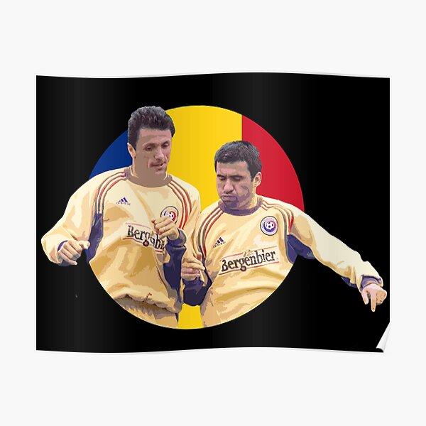 Hagi&Popescu - Romanian Football Legends Poster
