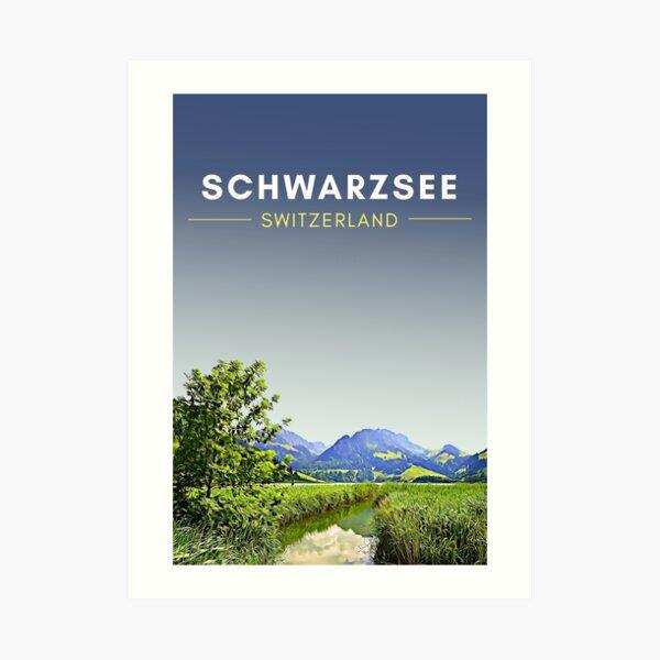 Schwarzsee Switzerland Digital Travel Art - no border Art Print