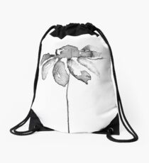 Flower Lithograph Print Drawstring Bag