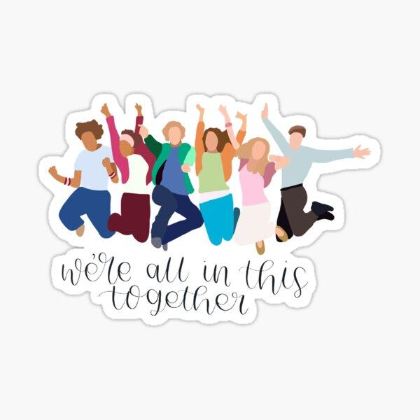 Nous sommes tous réunis dans ce lycée musical Sticker