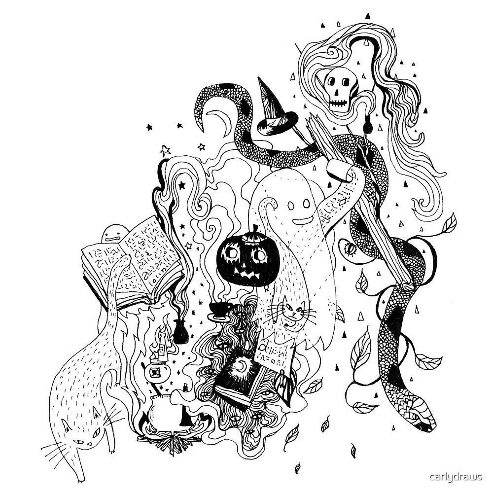 Witches Brew (full Moon) by carlydraws
