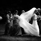 Bride walking to the Church by Matt Sillence