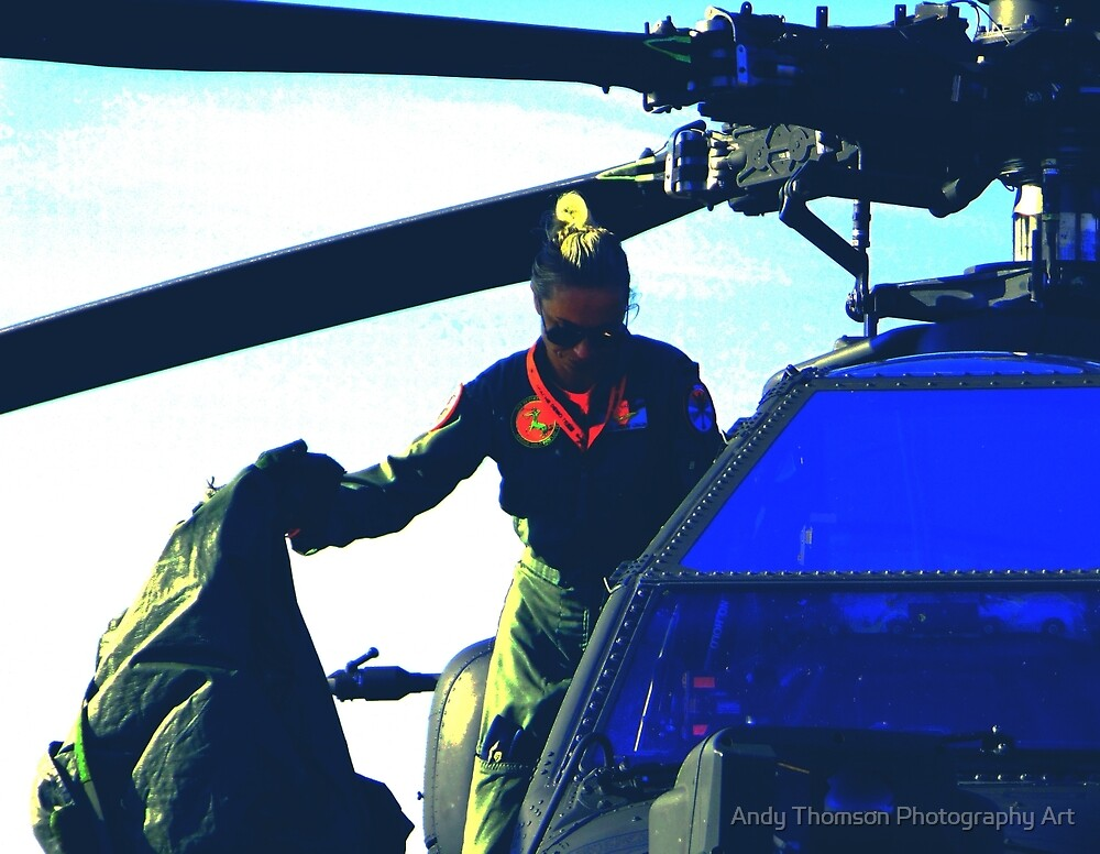 RNLAF Apache Pilot by Andy Thomson Photography Art