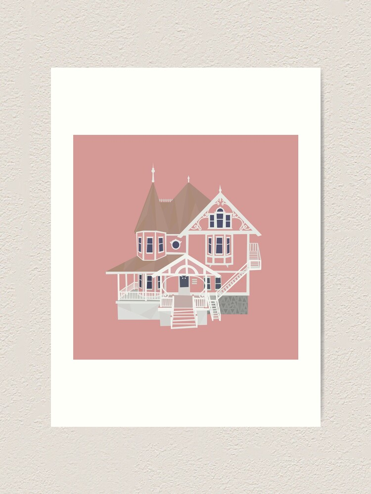 Coraline Pink Palace Art Print By Andrewmdesign Redbubble