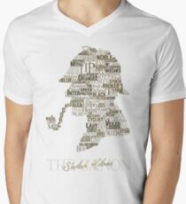 Sherlock Holmes The Canon (white) Men's V-Neck T-Shirt