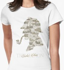 Sherlock Holmes The Canon (white) Womens Fitted T-Shirt