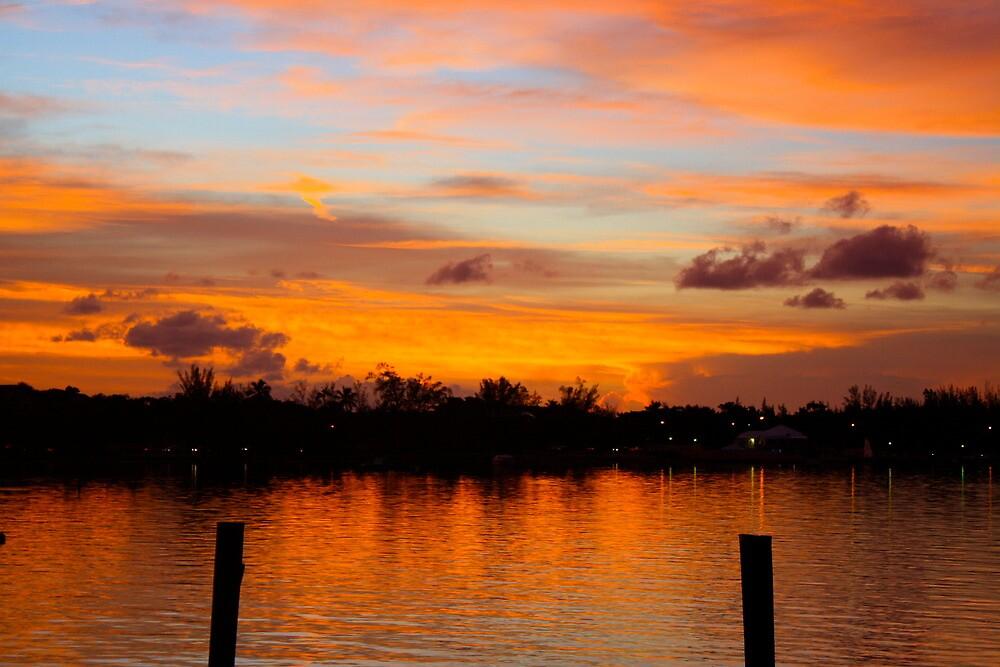 Sunset over Montagu Beach, Nassau, Bahamas by AndrewWilson94