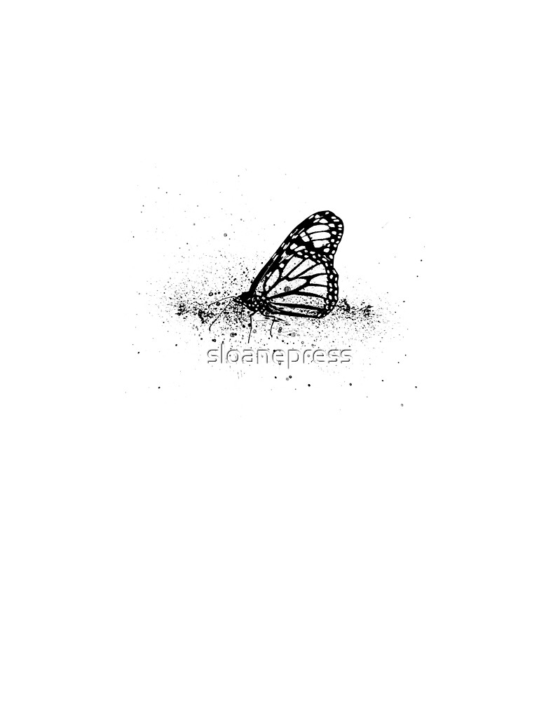 butterfly ink lithograph by sloanepress