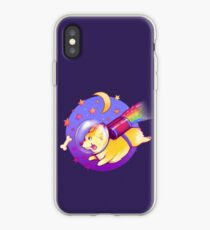 Vinilo o funda para iPhone See You Space Corgi
