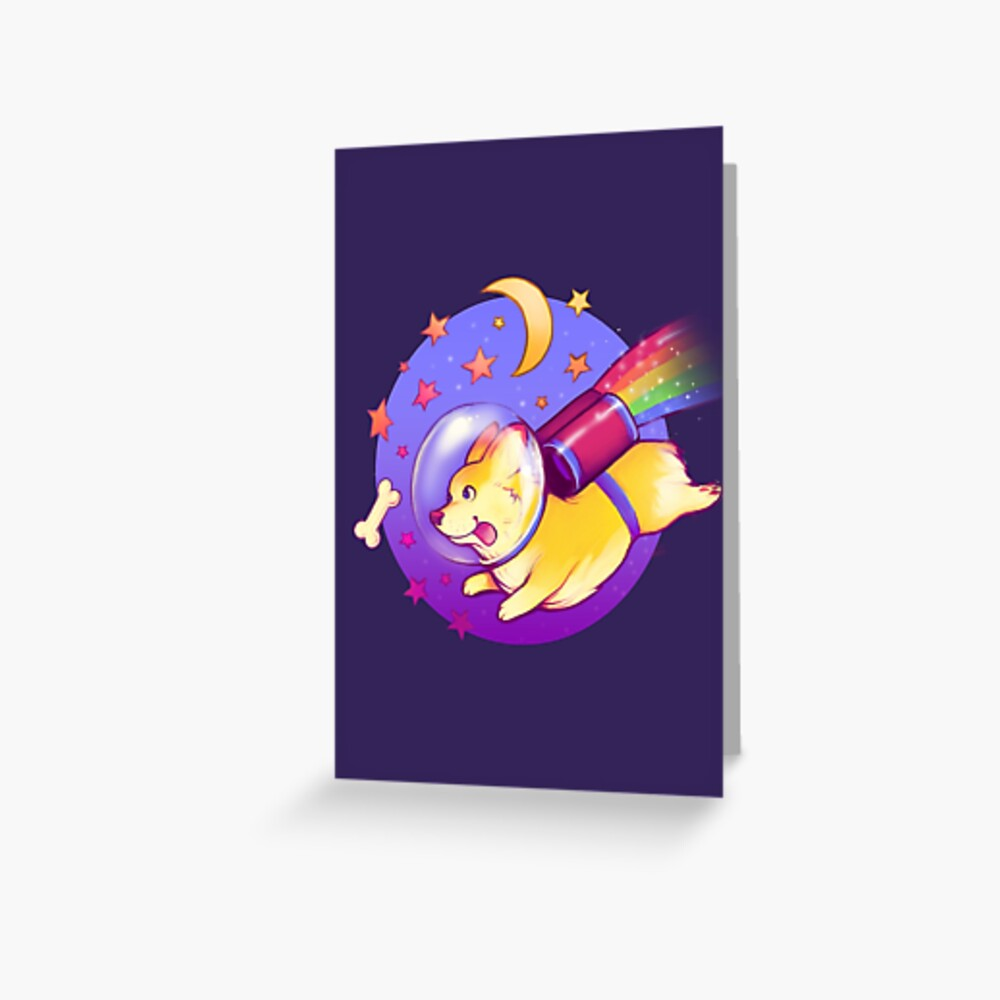 See You Space Corgi Greeting Card