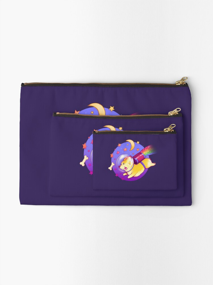 Alternate view of See You Space Corgi Zipper Pouch