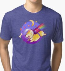 See You Space Corgi Tri-blend T-Shirt