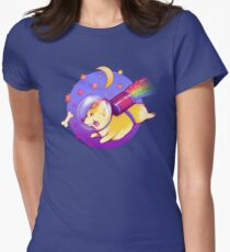 See You Space Corgi Women's Fitted T-Shirt