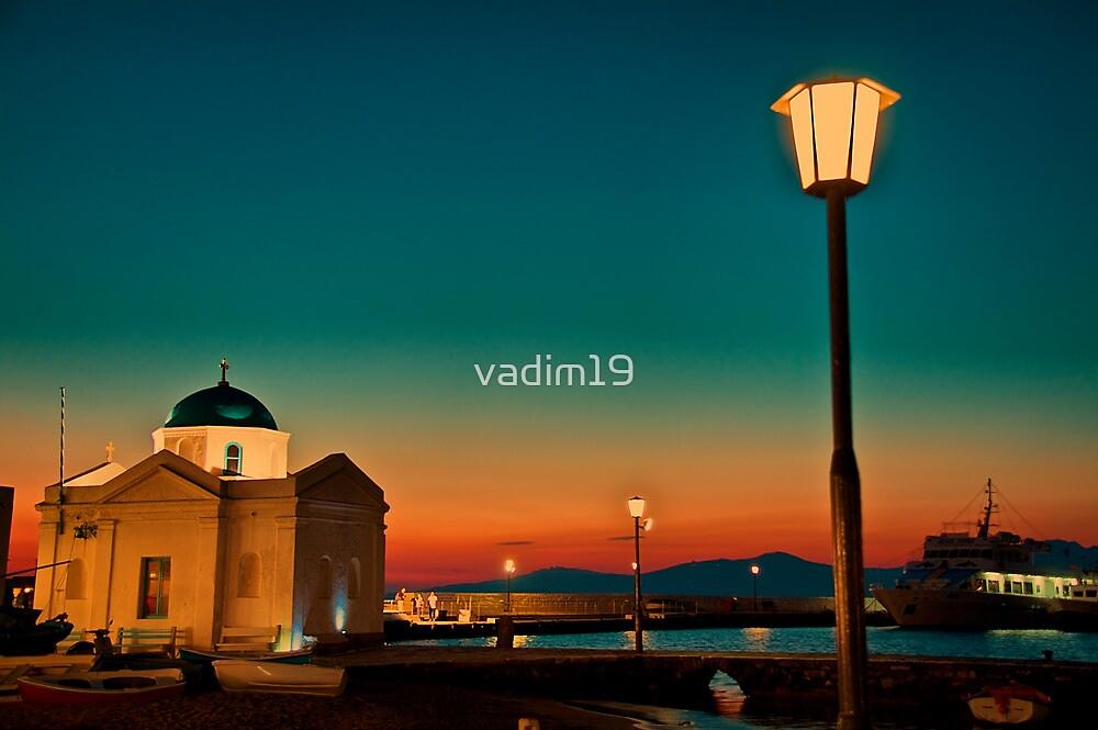 Greece. Mykonos. Night. Church. by vadim19