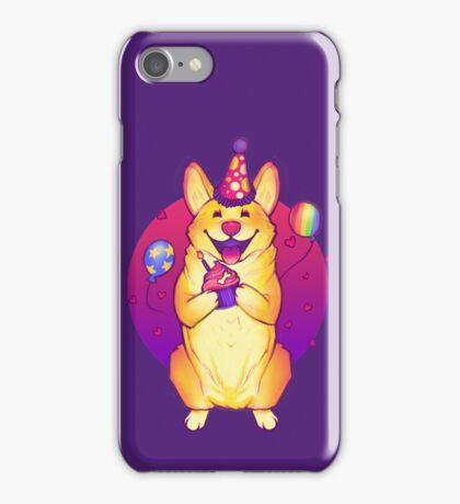 Birthday Corgi! iPhone Case/Skin