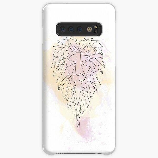 Löwe Watercolor Aquarell Origami Linien Samsung Galaxy Leichte Hülle