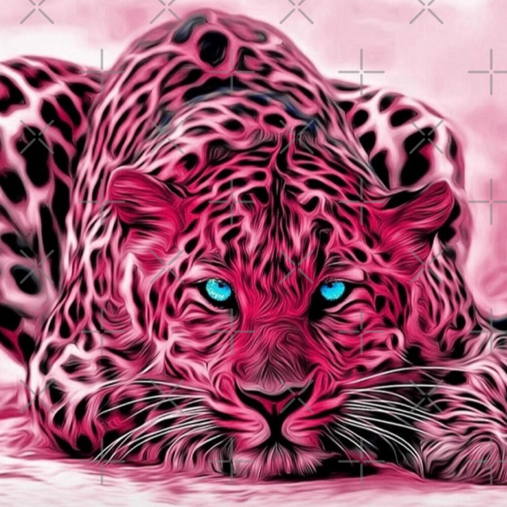 Pink Tiger Art Illustration by limitlezz