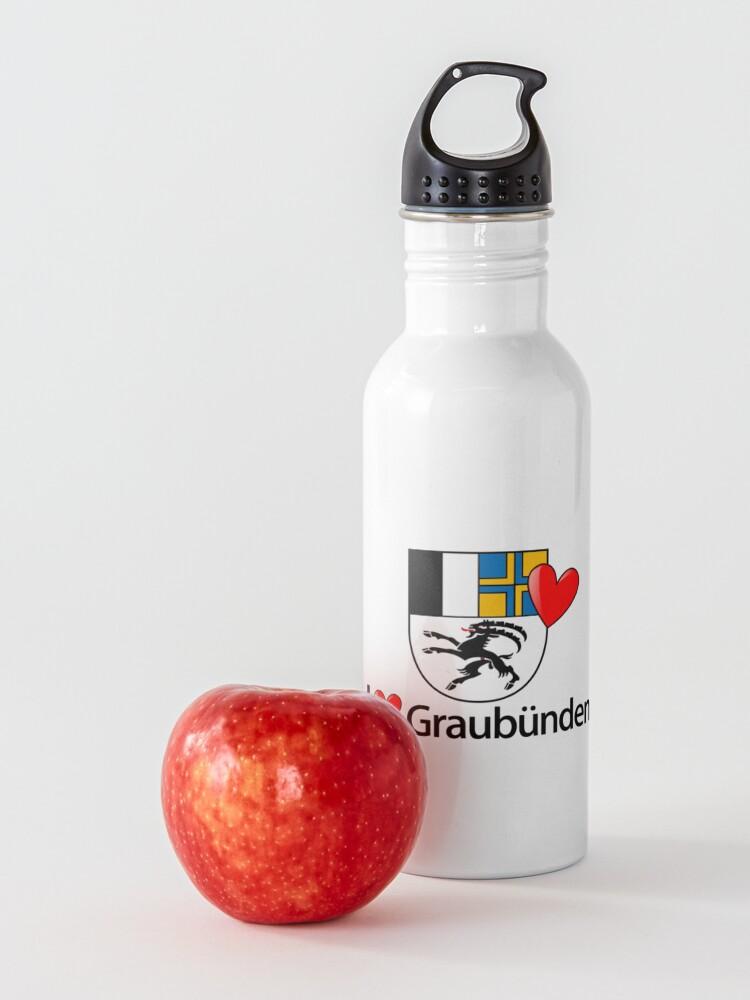 Alternative Ansicht von I love Graubünden Trinkflasche