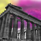 Panthenon - Athens - Surrealism by AriaTees