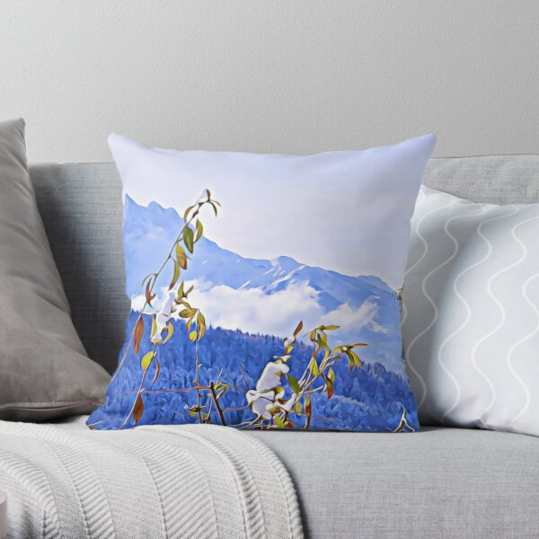 Winter in the Swiss Alps Throw Pillow