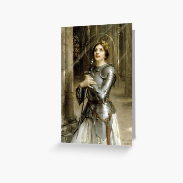 Joan of Arc. By Charles-Amable Lenoir. Greeting Card