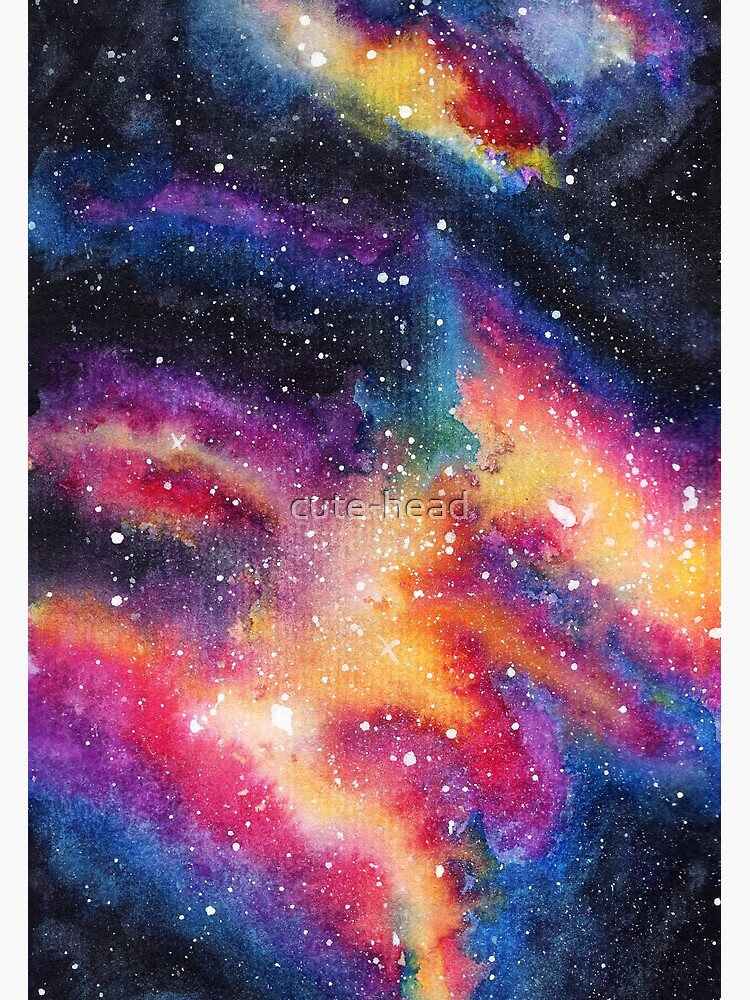 Galaxy One | Watercolor illustration | 014 by cute-head