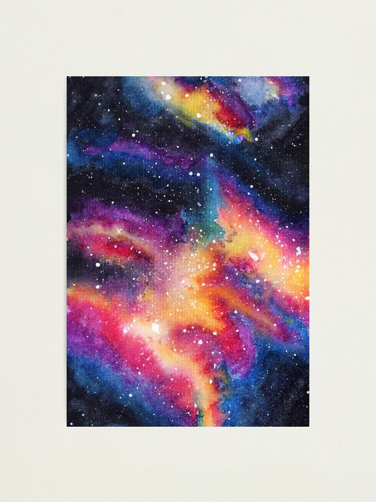 Alternate view of Galaxy One | Watercolor illustration | 014 Photographic Print