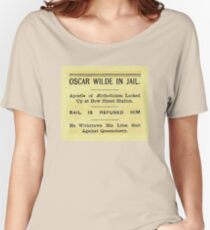 Oscar Wilde In Jail Headline Relaxed Fit T-Shirt