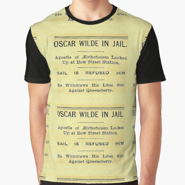 Oscar Wilde In Jail Headline Graphic T-Shirt