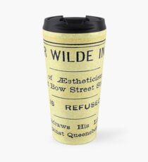 Oscar Wilde In Jail Headline Travel Mug