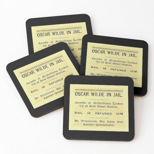 Oscar Wilde In Jail Headline Coasters (Set of 4)