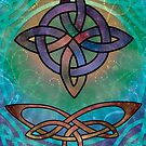 A Colourful Celtic Cross Filled with Stars by anankeblue