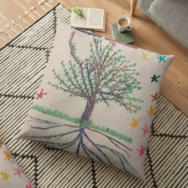 Life Code Tree of Time Floor Pillow