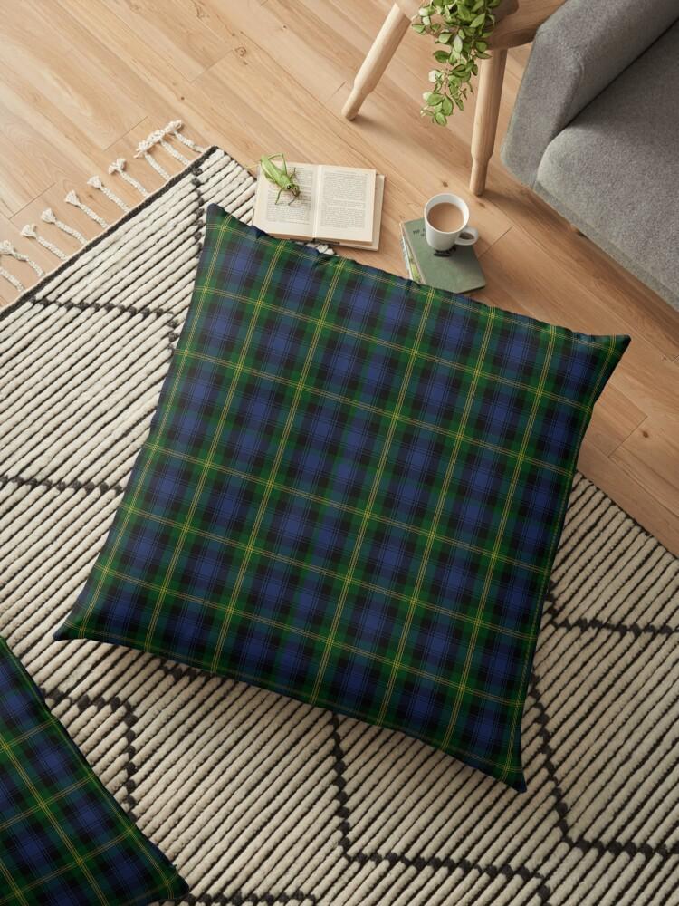 Clan Gordon Scottish Tartan Spun Polyester  Pillow