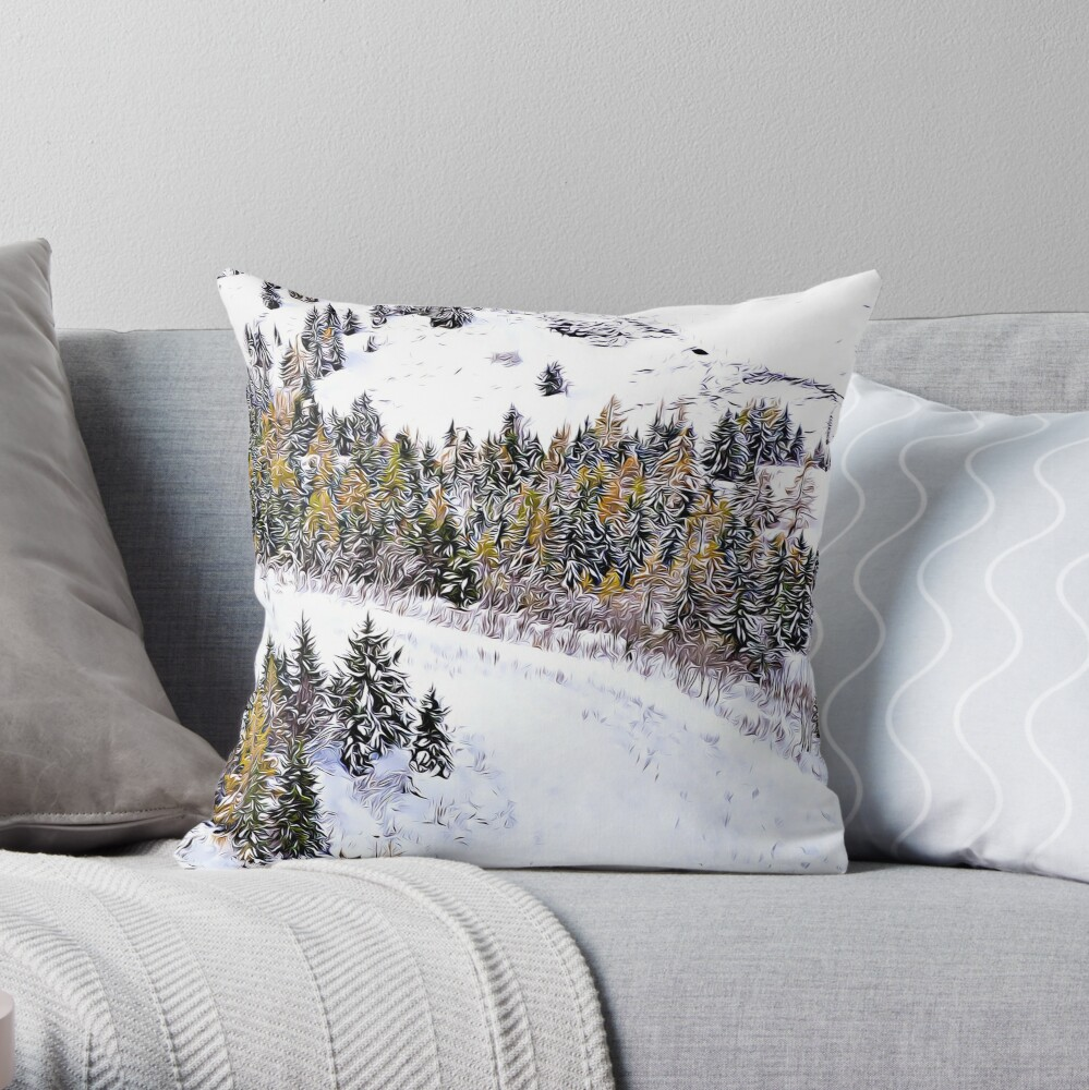 Swiss Winter Glacier 3000 Switzerland  Throw Pillow